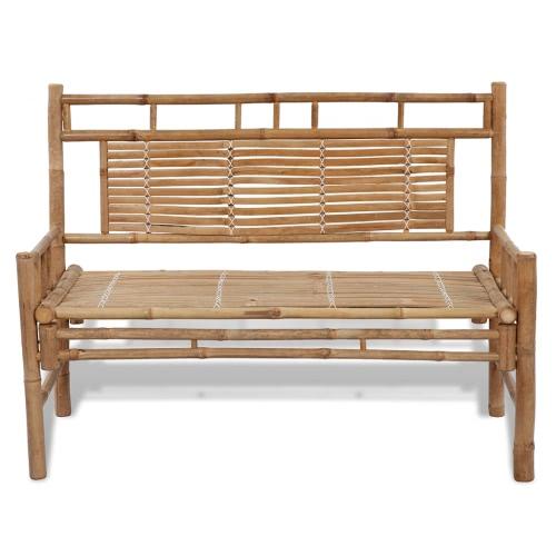 Banco di bambù con schienale