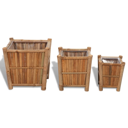3 шт Bamboo плантатор с нейлоновой Подкладкой