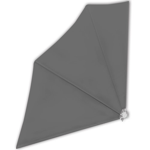 Patio Terrace Windscreen Collapsible 140 x 140 cm Grey