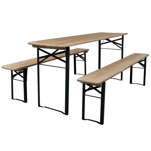 Foldable Beer Table and 2 Benches