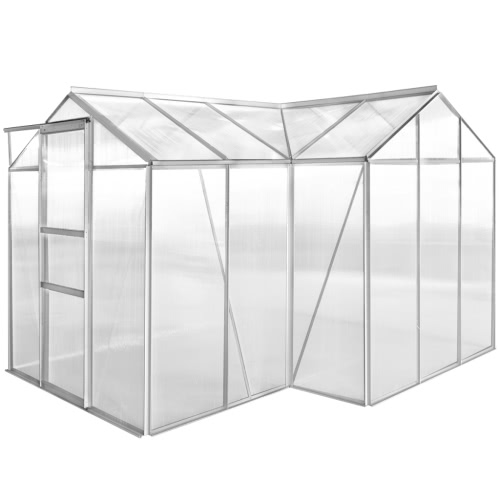 Aluminium Greenhouse 1 Section with Hollow Panel