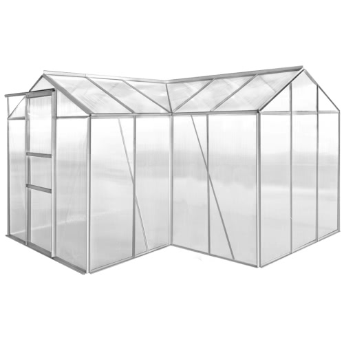 Aluminium Greenhouse 2 Sections with Hollow Panel