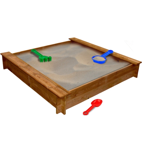 square wooden sandbox от Tomtop.com INT