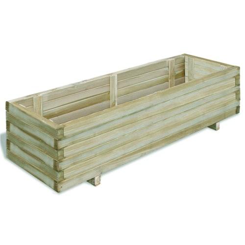 Прямоугольный деревянный плантатор 120 х 40 х 30 см