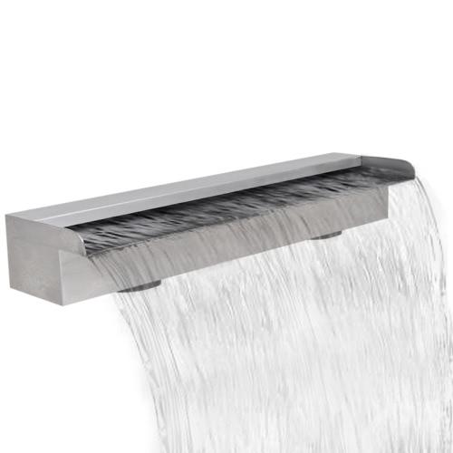 Прямоугольная Водопад бассейн фонтана из нержавеющей стали 60 см