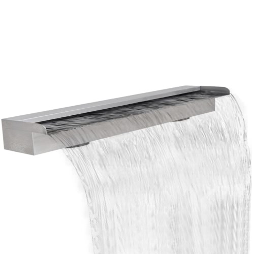 Rectangular Waterfall Pool Fountain Stainless Steel 59