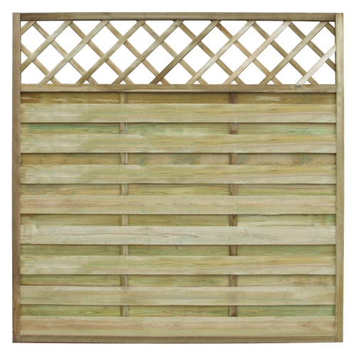 Square Garden Fence Panel with Trellis 180 x 180 cm Wood