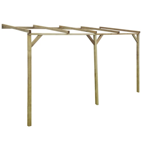 Wooden Lean-To Pergola 2 x 4 x 2.2 m