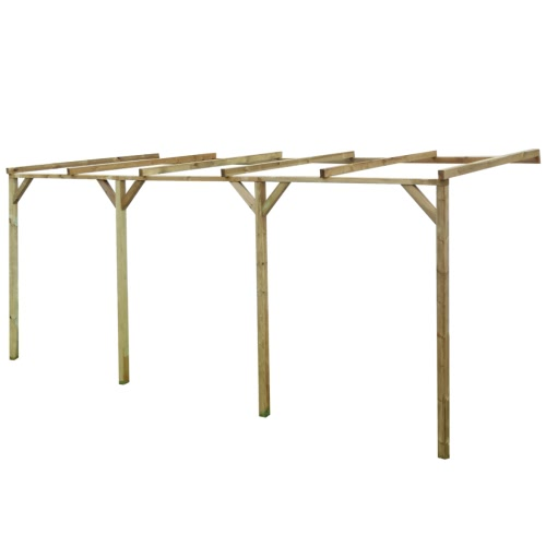 Wooden Lean-To Pergola 2 x 5 x 2.2 m