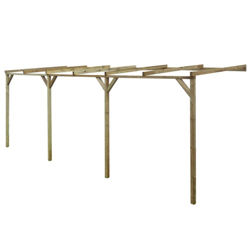 Wooden Lean-To Pergola 2 x 6 x 2.2 m