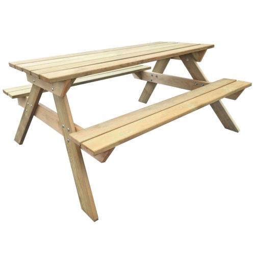 Bois Table de pique-nique 150 x 135 x 71,5 cm