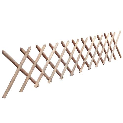 Valla enrejada expandible de madera impregnada 250 x 60 cm