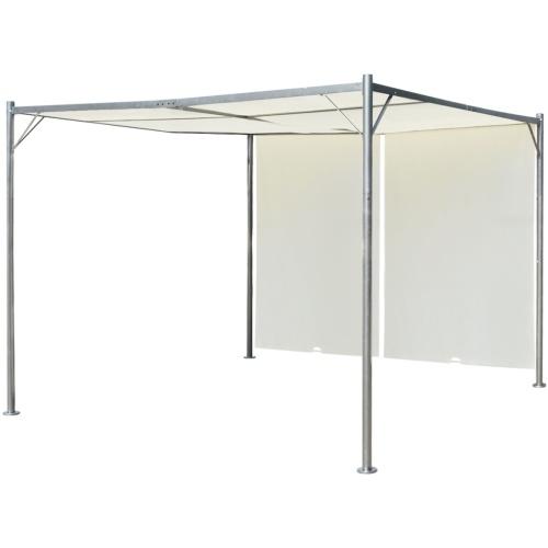 Pergola con regolabile tetto Cream White Steel 3x3 m