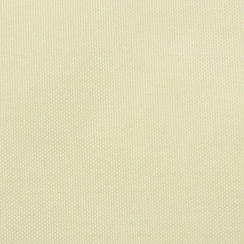 Parasole Sail tessuto di Oxford triangolare 5x5x5 m Crema