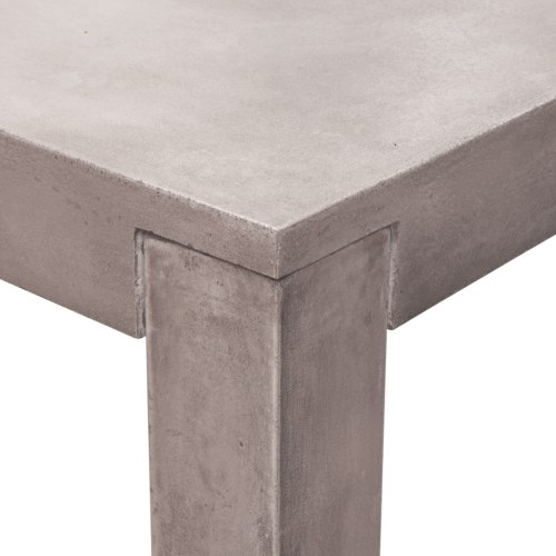 outdoor dining table concrete rectangular