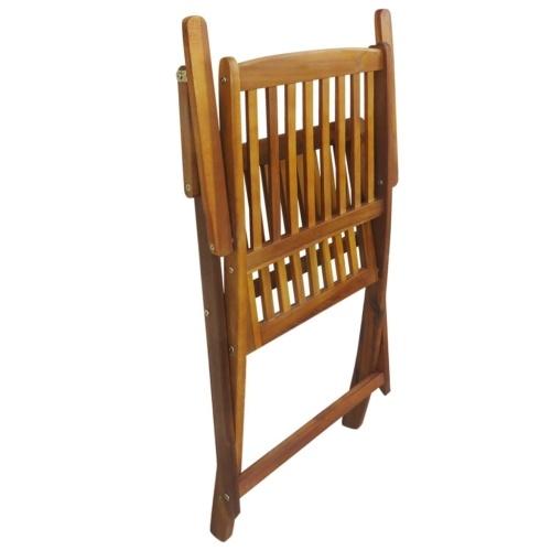 Наружные складные обеденные стулья 2 шт. Acacia Wood