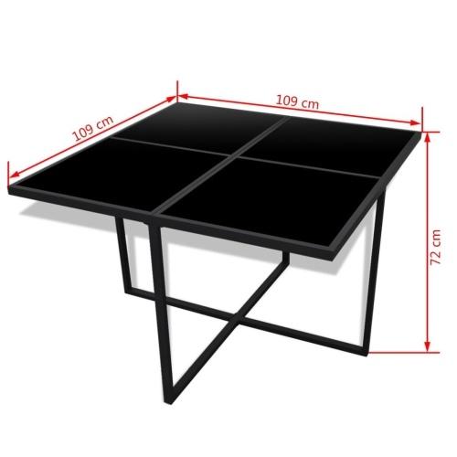 21 шт. Для наружного обеденного набора Black Poly Rattan (только для Великобритании / IE / FI / NO)