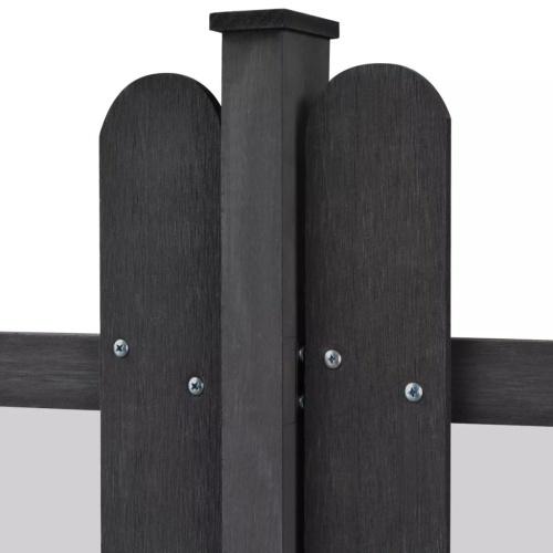 WPC Пикет Забор со стойками 3 шт. 6 м. Длинные 80 см. Серый