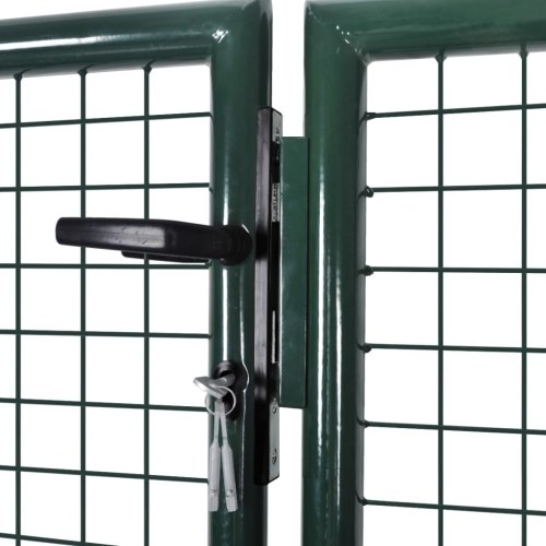 Garden Fence Gate 289x100 cm / 306x150 cm Acciaio Verde