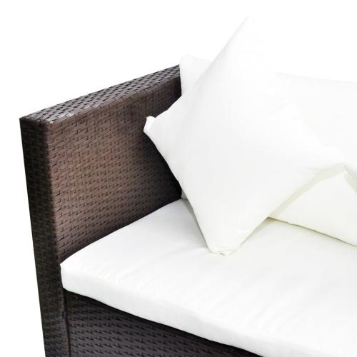 Комплект садового дивана 17 штук Поли ротанга коричневый