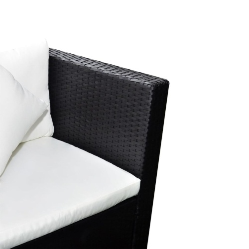 Комплект садового дивана 17 штук Poly Rattan Black