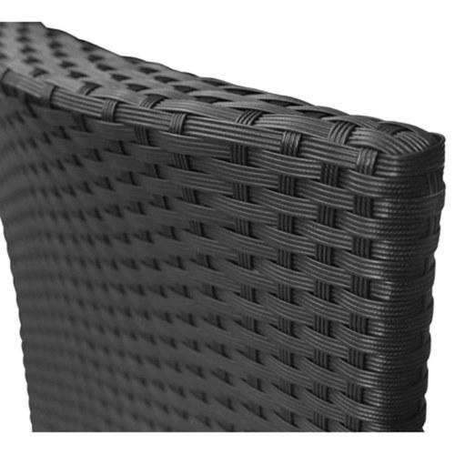 Комплект стула для сада 2 шт. Полированный ротанговый черный
