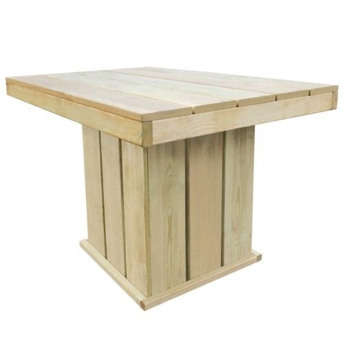 5 шт. Наружный обеденный стол и набор стульев Пропитанный сосновый шов