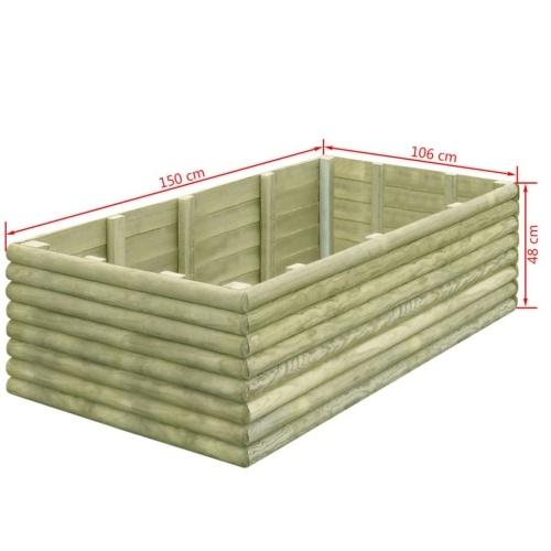 Садовый плантатор 150x106x48 см Пропитанный сосновый лес