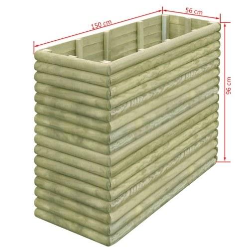 Садовый плантатор 150x56x96 см Пропитанный сосновый лес