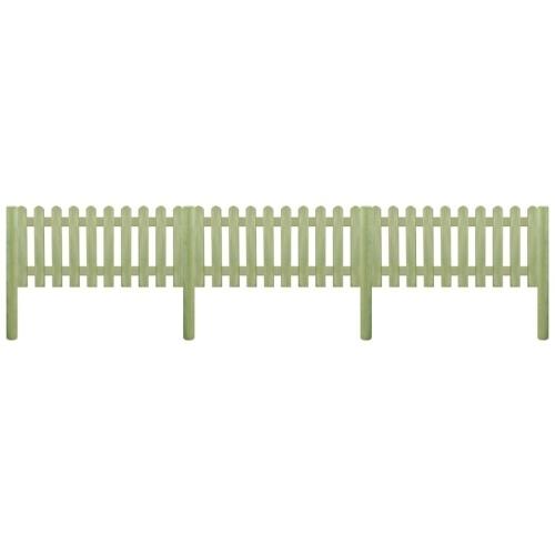 Clôture avec poteaux Bois de pin imprégné 5,1 m 130 cm 6 / 9cm