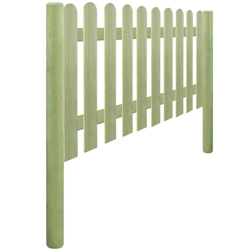 Steccato con pali impregnati di pino 5,1 m 150 cm 6 / 9cm