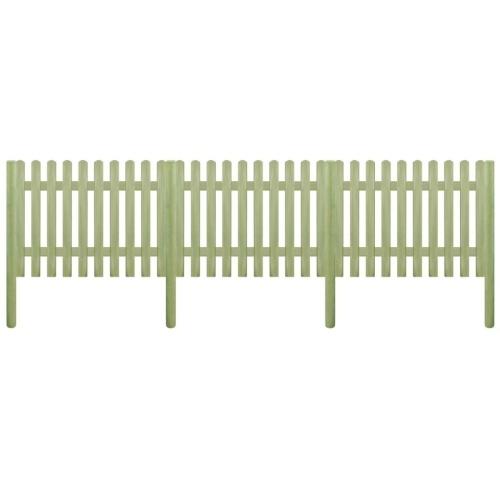 Steccato con palo in legno di pino impregnato 5,1 m 170 cm 6 / 9cm