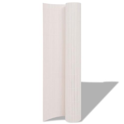 Recinzione da giardino bifacciale 90x500 cm Bianco
