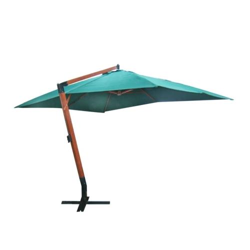 parasol rectangulaire d port et inclinable vert 3 x 4 m. Black Bedroom Furniture Sets. Home Design Ideas