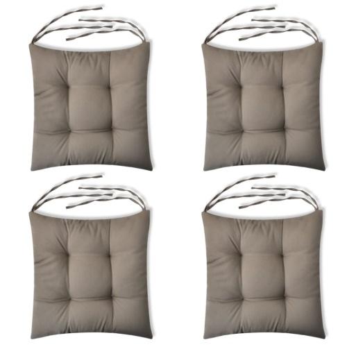 Ensemble de 4 coussins de chaises Brun