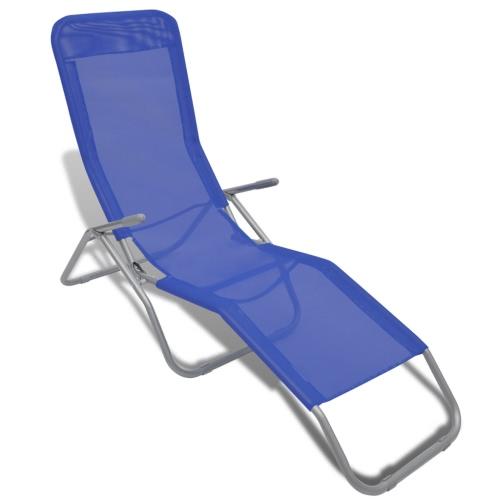 Bain de Soleil avec Armature et Textilène Bleu 2 pièces