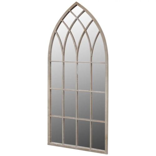 Miroir de Jardin Arche rustique 50 x 115 cm Intérieur et extérieur