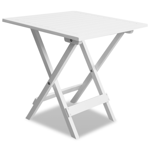 Table basse / d'appoint de jardin blanche en acacia
