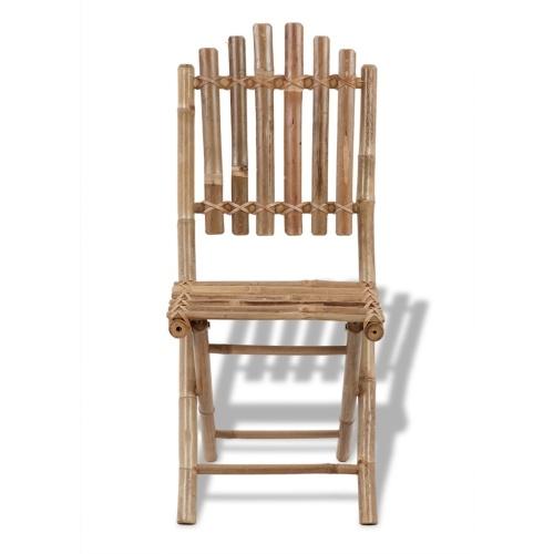 set of 2 bamboo folding chairs