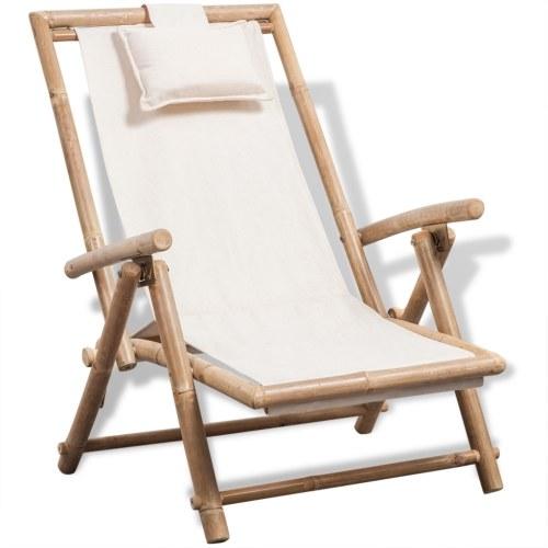 sedia a sdraio in bambù