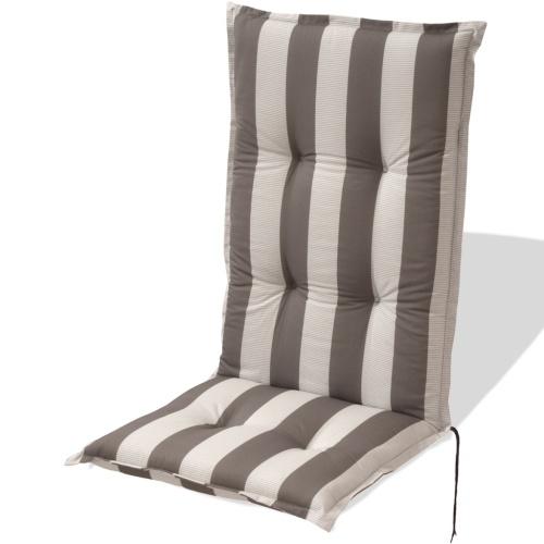 Kissen für Gartensitz 4 Stück 120 x 52 cm Graue Leiste