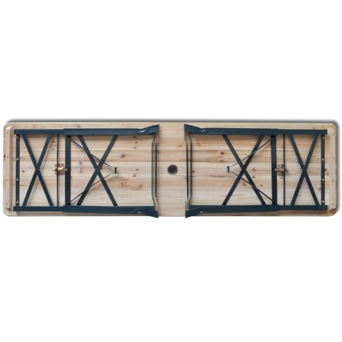 collapsible beer table 179 x 50 x 75/105 cm pinewood