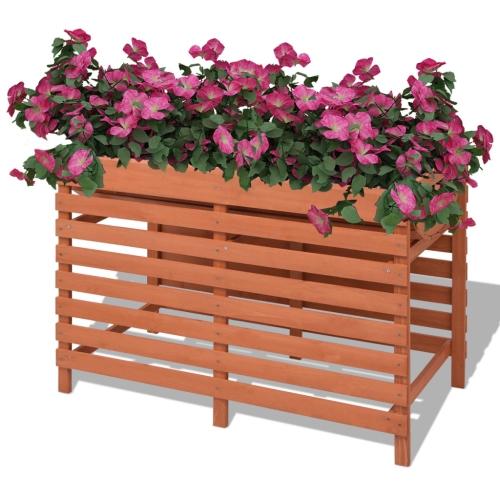 Jardini re bac fleur pot de l gumes en bois 100x50x71cm - Bac a legume en bois ...