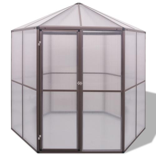 aluminum greenhouse 240 x 211 x 232 cm