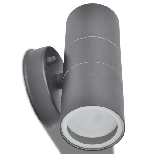 LED outdoor wall light 2 pcs stainless steel down / up