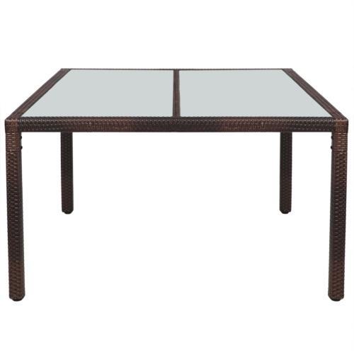 Сад обеденный стол Плетеная смола 150x90x75 см коричневый