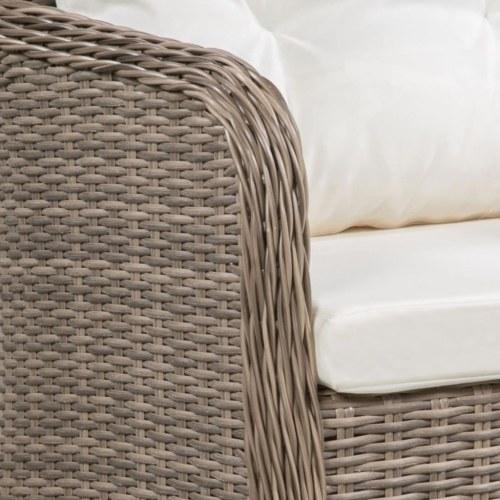 Набор садовой мебели 29 шт. Коричневая плетеная смола