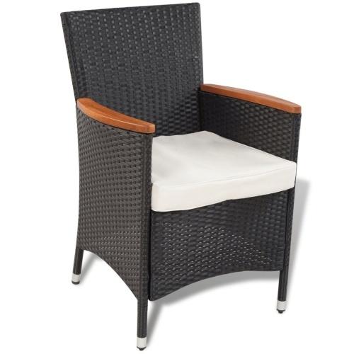 garden furniture 17 pcs braided resin acacia table top