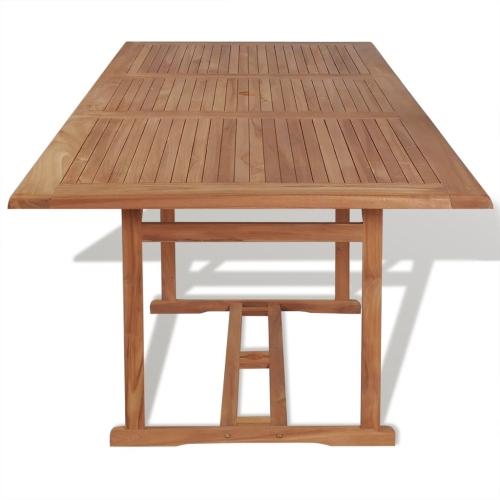 Table manger rectangulaire d 39 ext rieur 240x90x75 cm teck for Table a manger exterieur