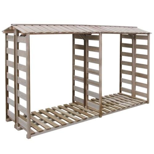 abri de stockage du bois de chauffage 300x100x176cm pin impr gn seulement sur. Black Bedroom Furniture Sets. Home Design Ideas